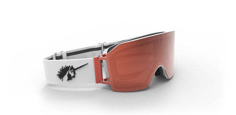 918 WHITE/ROSE, ROSE GOLD MAGENIC LENSE OVERSIZE GOGGLES - ROSE GOLD