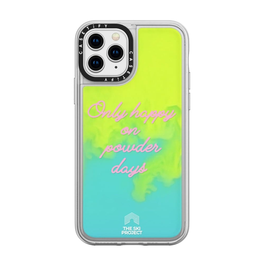 TSP X CASETiFY iPhone XS MAX - Neon Sand Case - Yellow Blue