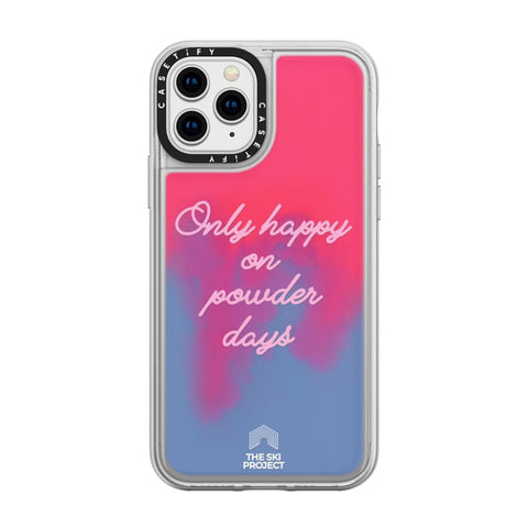 TSP X CASETiFY iPhone XS - Neon Sand Case - Pink Blue