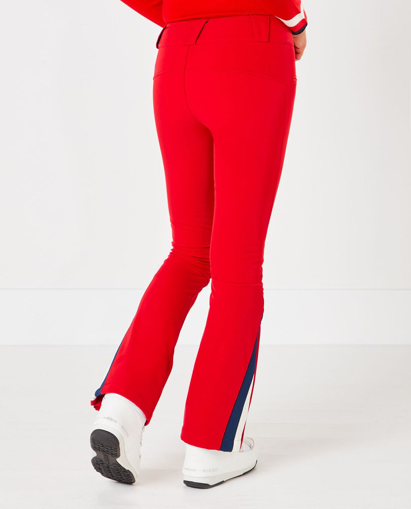 Chervon Flare Pants - Red
