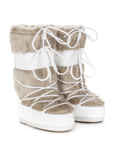 Moon Boot Classic Faux Fur - White