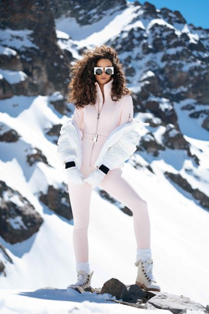 The Aspen Exclusive Ski Suit - Sakura Pink
