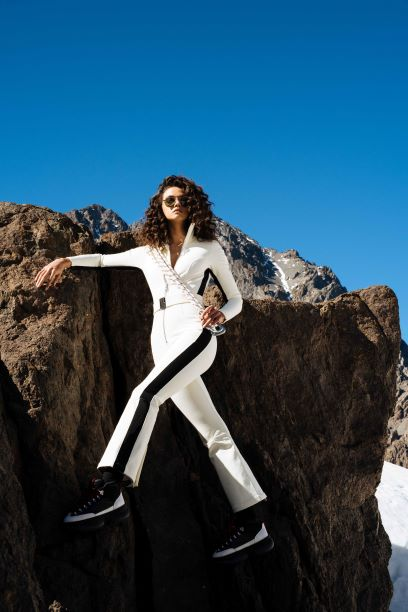 The Aspen OTB (Over the Boot) Ski Suit - Cloud Dancer