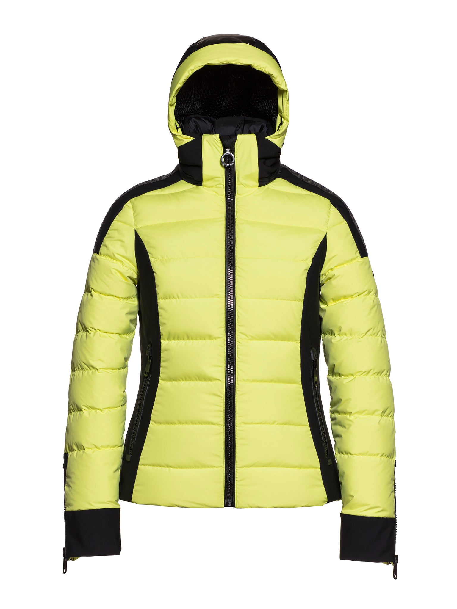 Almeta Fitted Jacket with Patent Hoodie - Lemon