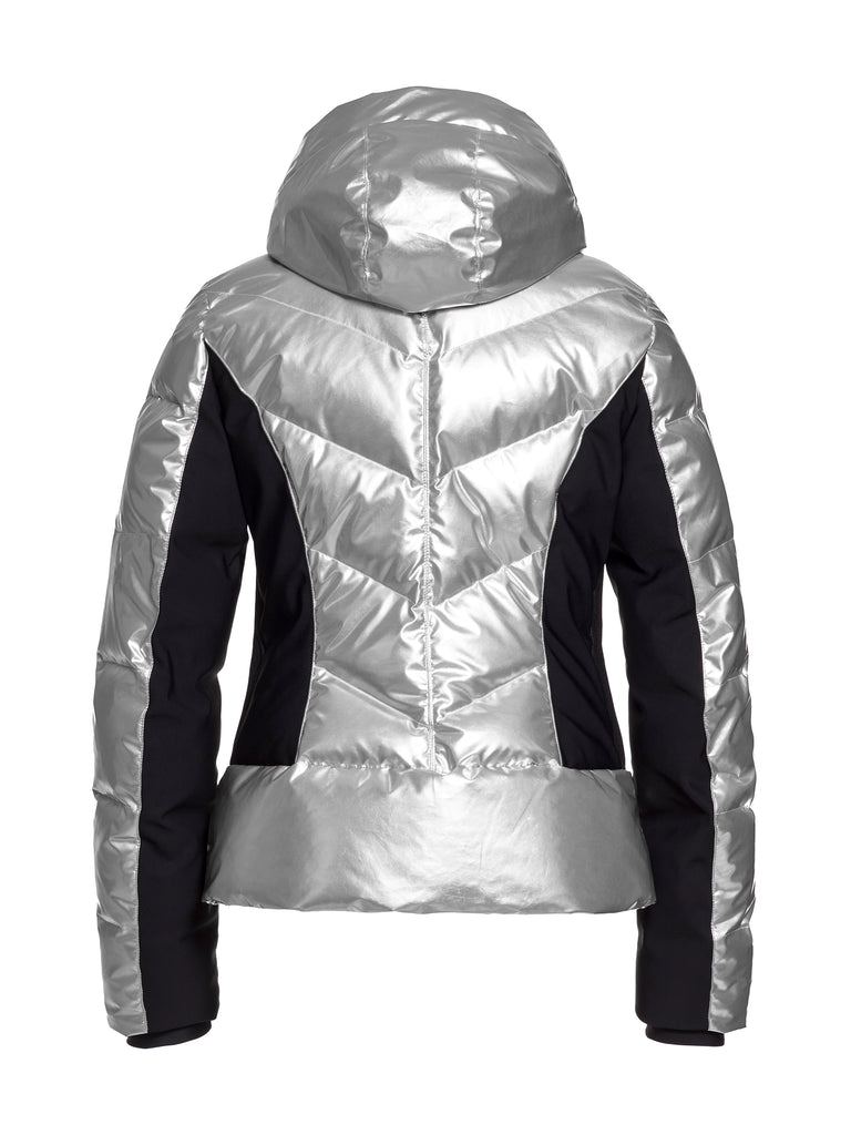 Fjal Metallic Fitted Ski Jacket - Silver