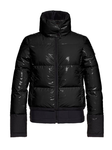 Skina Shiny Bomber Ski Jacket - Black