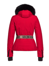 Load image into Gallery viewer, Hida Fur Hooded Belted Ski Jacket - Lava
