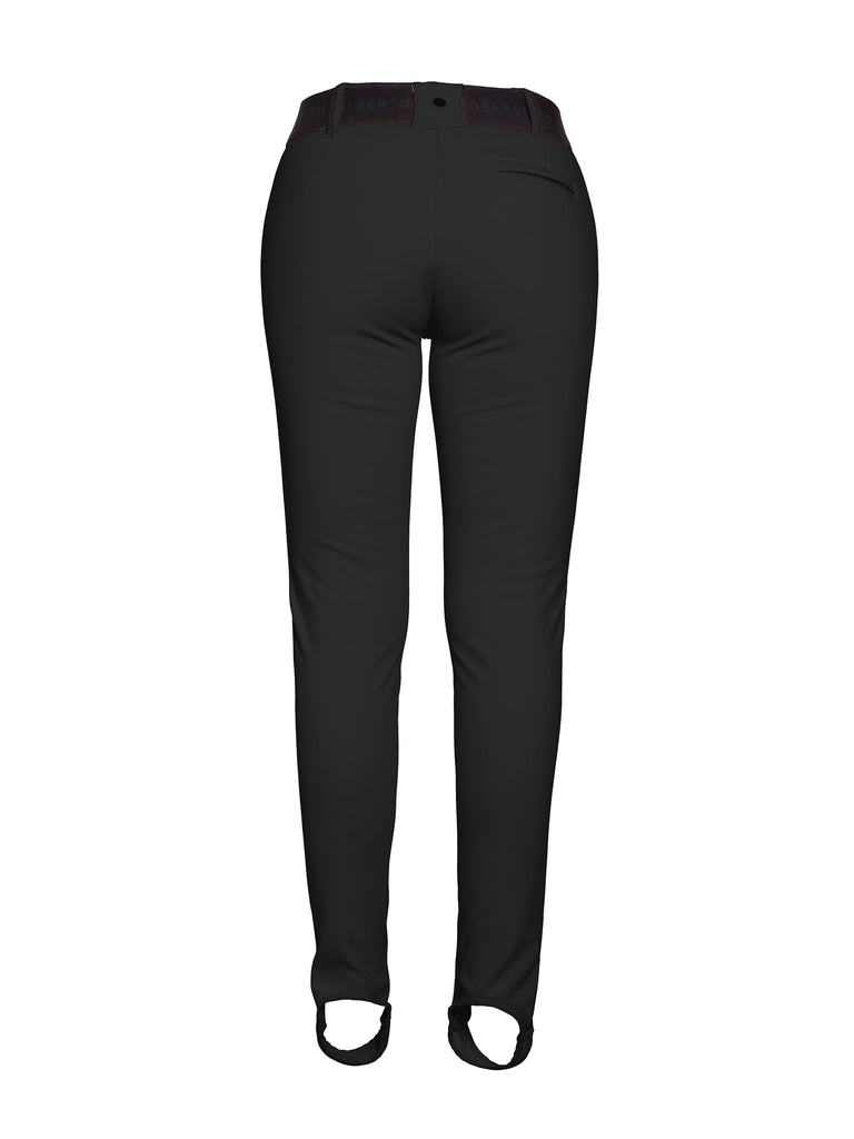 Paige Skinny Ski Leggings w Stripe - Black