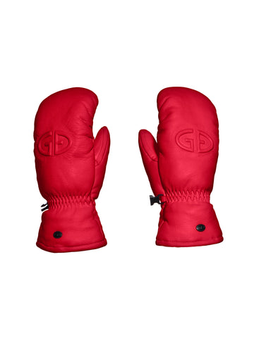 Hilja Leather Mitten - Red