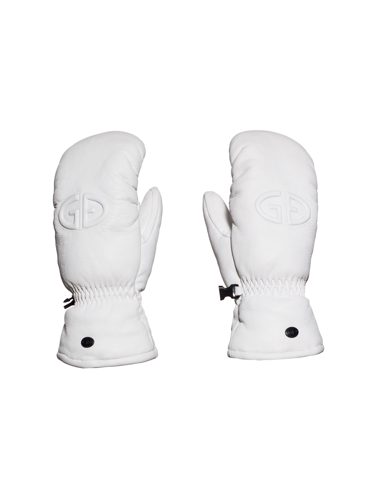 Hilja Leather Mitten - White
