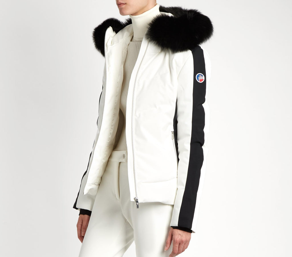 Gardena III Jacket with For Fur Collar - Poudre