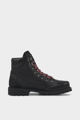 Helsinki 1E Mens Snow Boots w Red Laces - Black