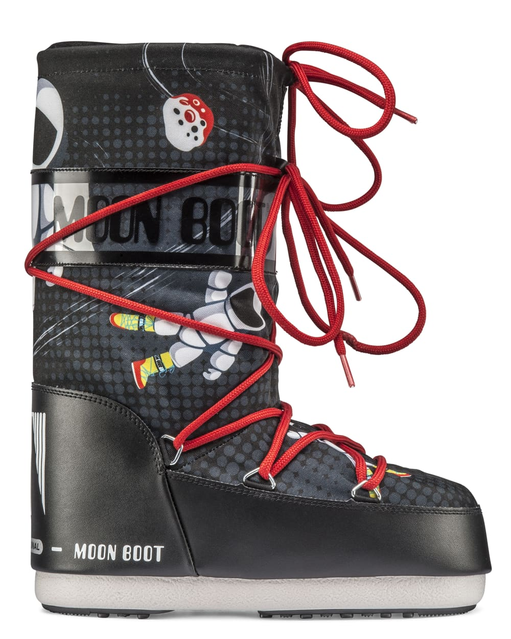 Moon Boot Jr Boy Space Man - Black/Anthracite