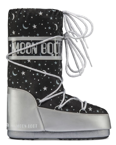 Moon Boot Jr Girl Universe - Silver/Black