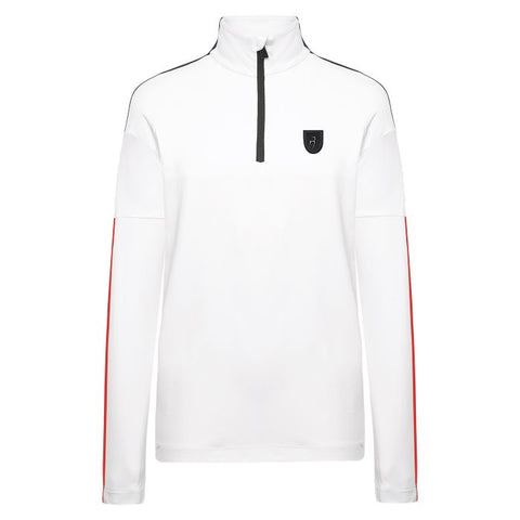 Leon Mens Base Layer - Bright White/Red