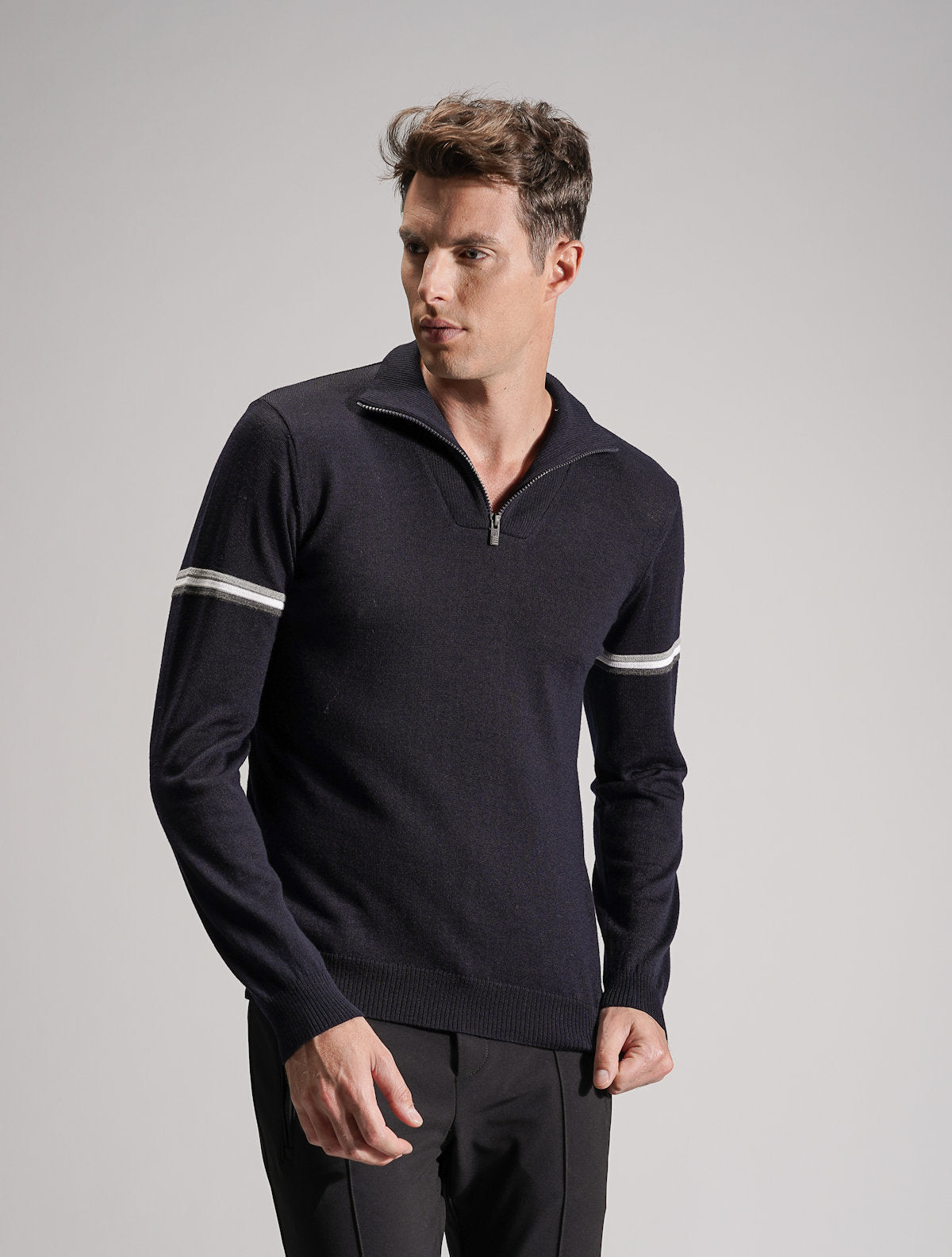 Marius Multi Pocket Fleece Lined Mid Layer - Dark Blue