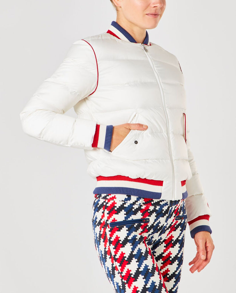 Rainbow Bomber Jacket - White