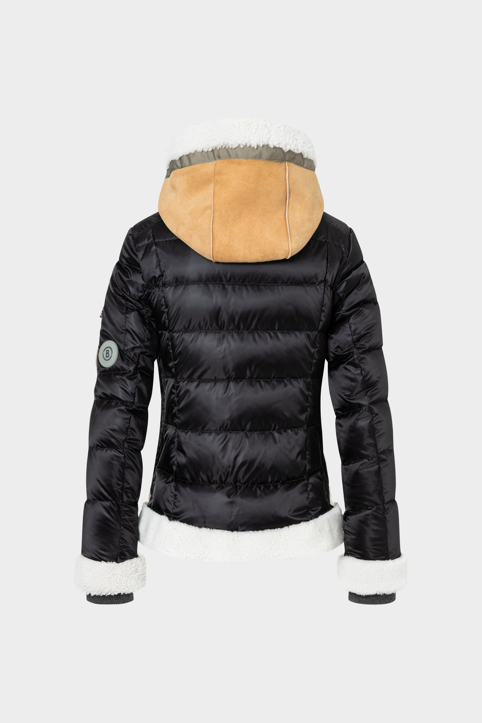 RIANA-LD Shearling Ski Jacket - Black