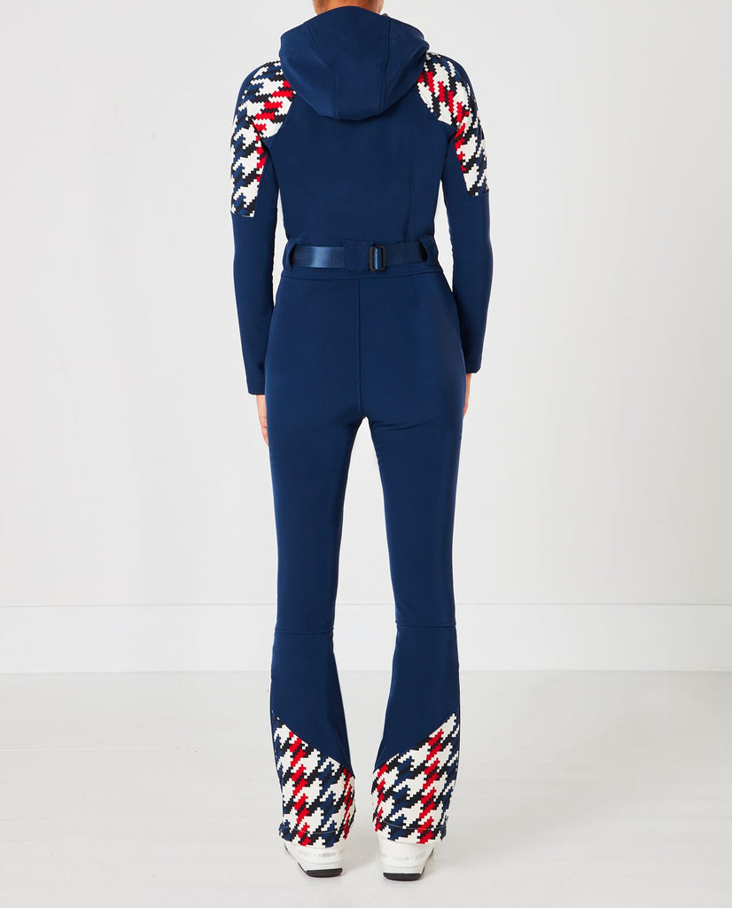 Tignes Ski Suit - Blue Houndstooth