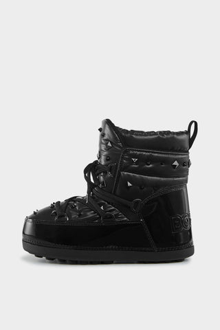 Trois Vallees 16 Studded Snow Boots - Black