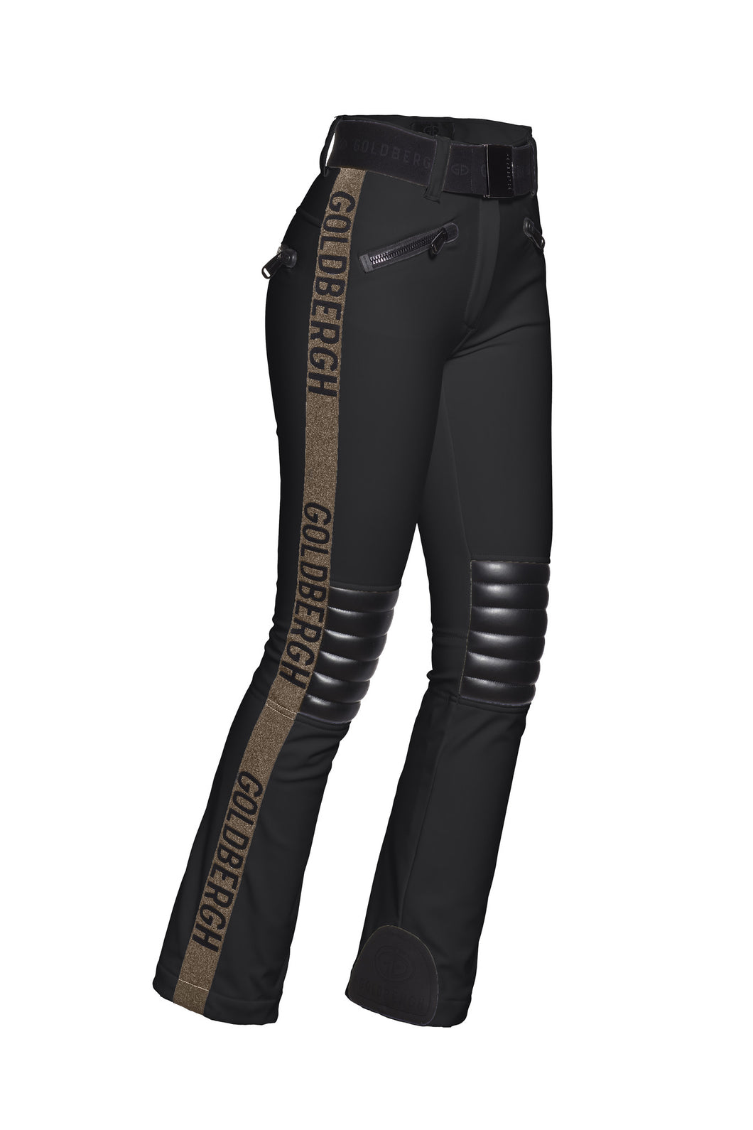 Rocky, Ladies knitsted pants - Gold