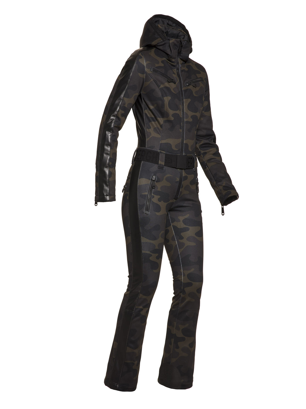 Bush Jumpsuit No Fur Ladies knitsted - Brown