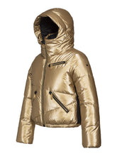 Load image into Gallery viewer, Balloon, Ladies knitsted Ski Jacket - Gold