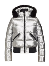 Load image into Gallery viewer, Aura Ski Jacket Real Fox Fur Ladies Woven - SILVER