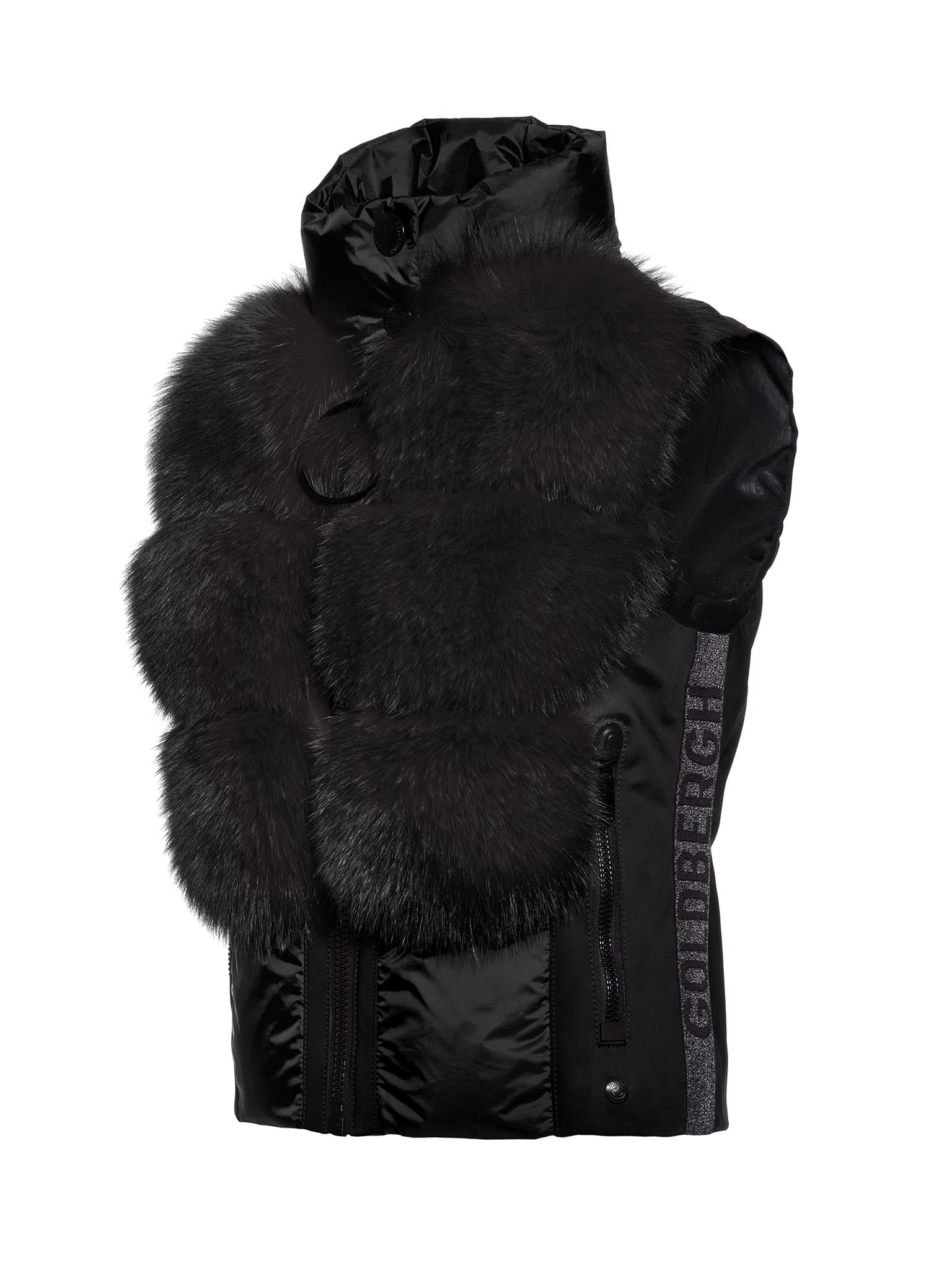 Adda Bodywamer Real Fox Fur - Black