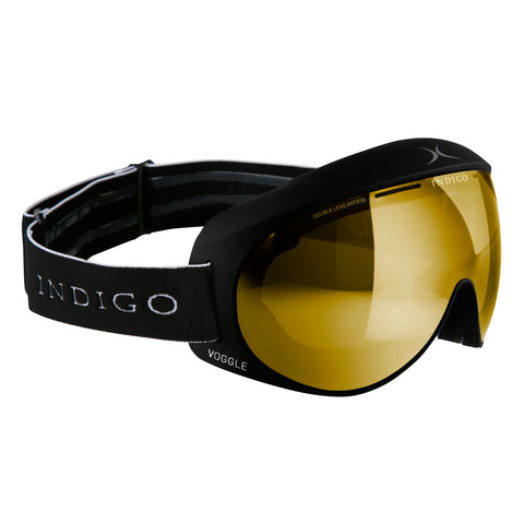 Voggles Goggles Asia Fit - Mirror Gold Black