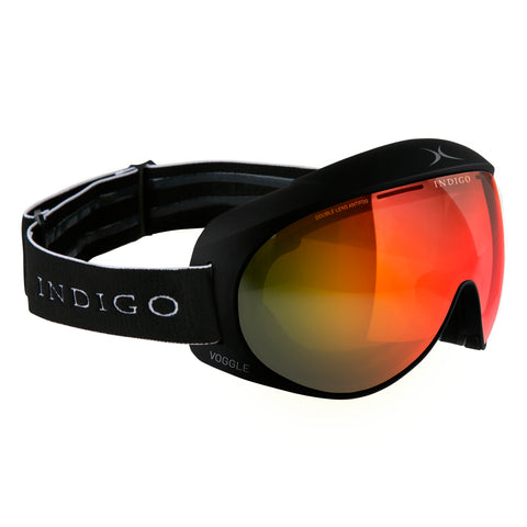 Voggles Goggles Asia Fit - Mirror Red Black