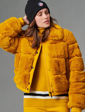 Load image into Gallery viewer, Maia Faux Fur Bomber Jacket - Mustard