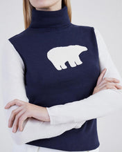 Load image into Gallery viewer, Bear Turtle Neck Sweater - Blue