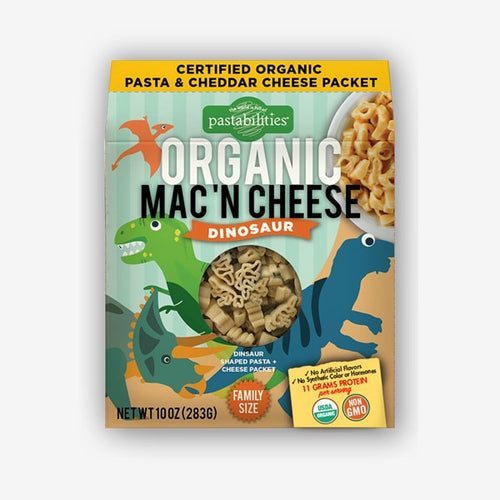 Organic Dinosaur Mac 'N Cheese - Picnicology, Organic Mac 'N Cheese - Pasta