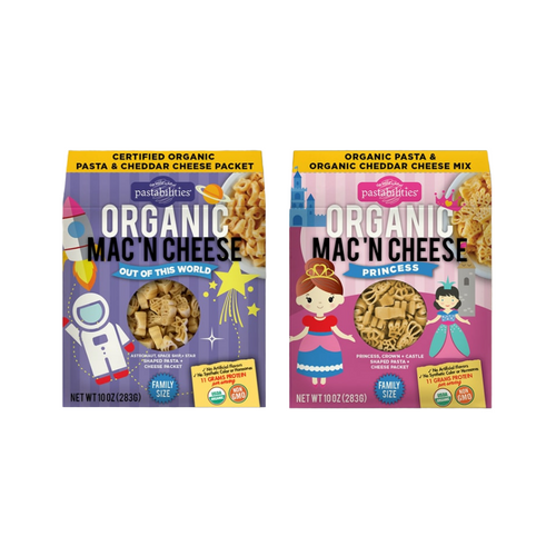 Organic Mac 'N Cheese Combo - Out of this World / Princess (2 Pack)