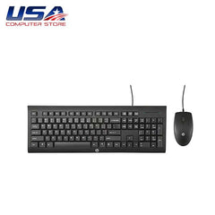 Used USB Wired Keyboard and Mouse Combo