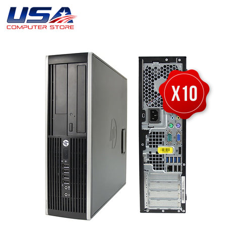 Picture of Lot of 10 HP 8300 Elite Desktop i5 3rd Gen 8GB 250GB Windows 10 Pro