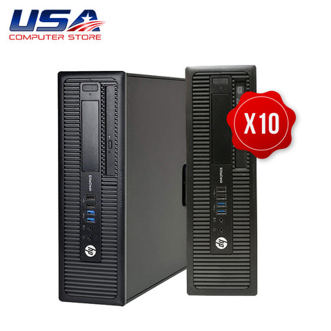 Picture of Lot of 10 HP EliteDesk 800 G1 Desktop i5 4th Gen 8GB 250GB Windows 10 Pro