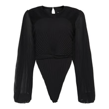Load image into Gallery viewer, The Howlite Blouse Bodysuit in Black