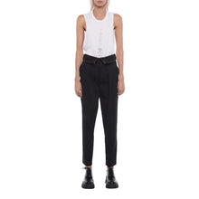 Load image into Gallery viewer, The Zip Pleated Pant in Black