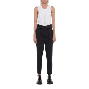 The Zip Pleated Pant in Black