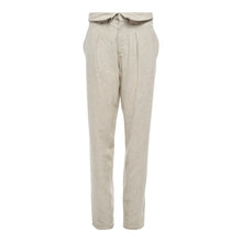 Load image into Gallery viewer, The Zip Pleated Pant in Natural