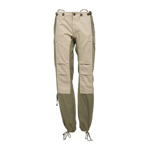 The Nina Beige and Khaki Cargo Pant