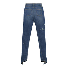 Load image into Gallery viewer, The Split Angle Bleach Drip Skinny Jean