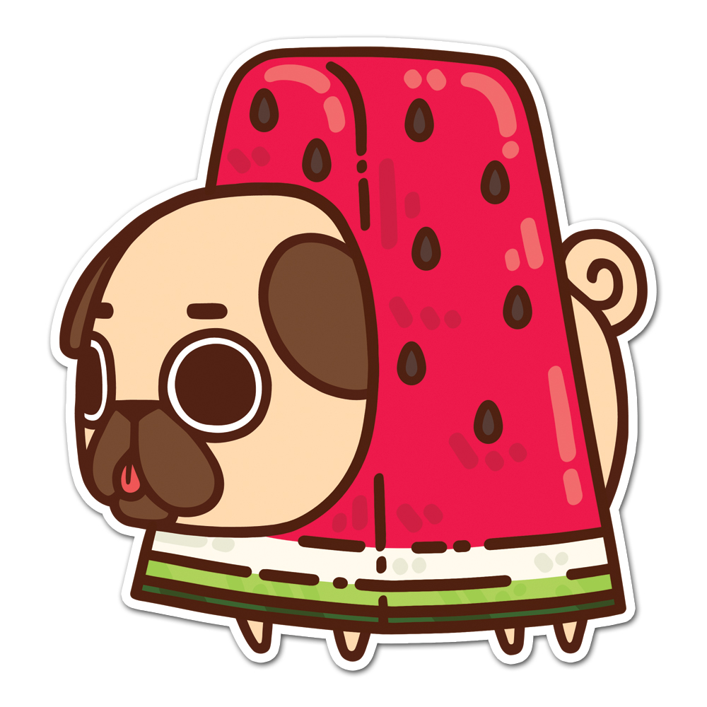 Puglie Watermelon Sticker