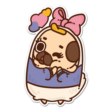 Paisy Pug Sticker