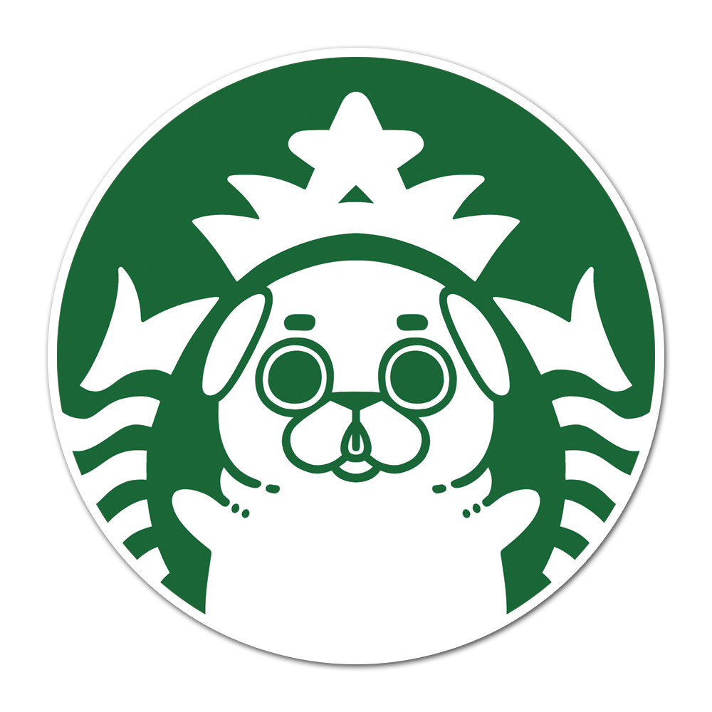 Puglie Starpugs Sticker