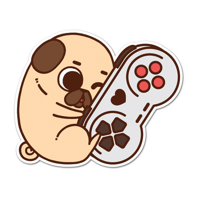 Puglie Gaming Buddy Sticker