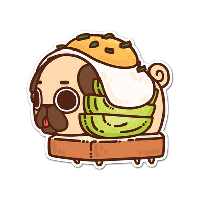 Puglie Avocado Toast Sticker