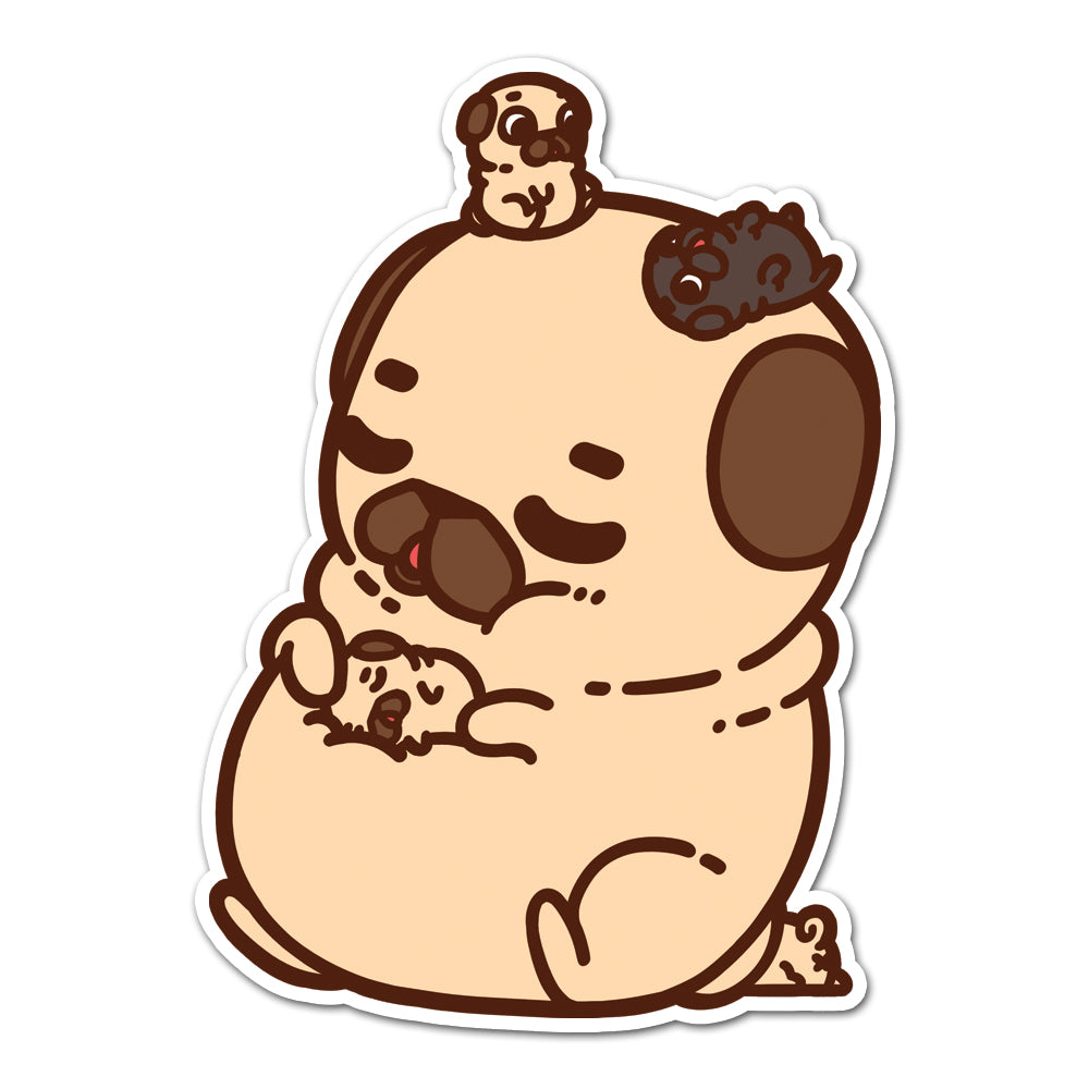Little Puglies Naptime Sticker